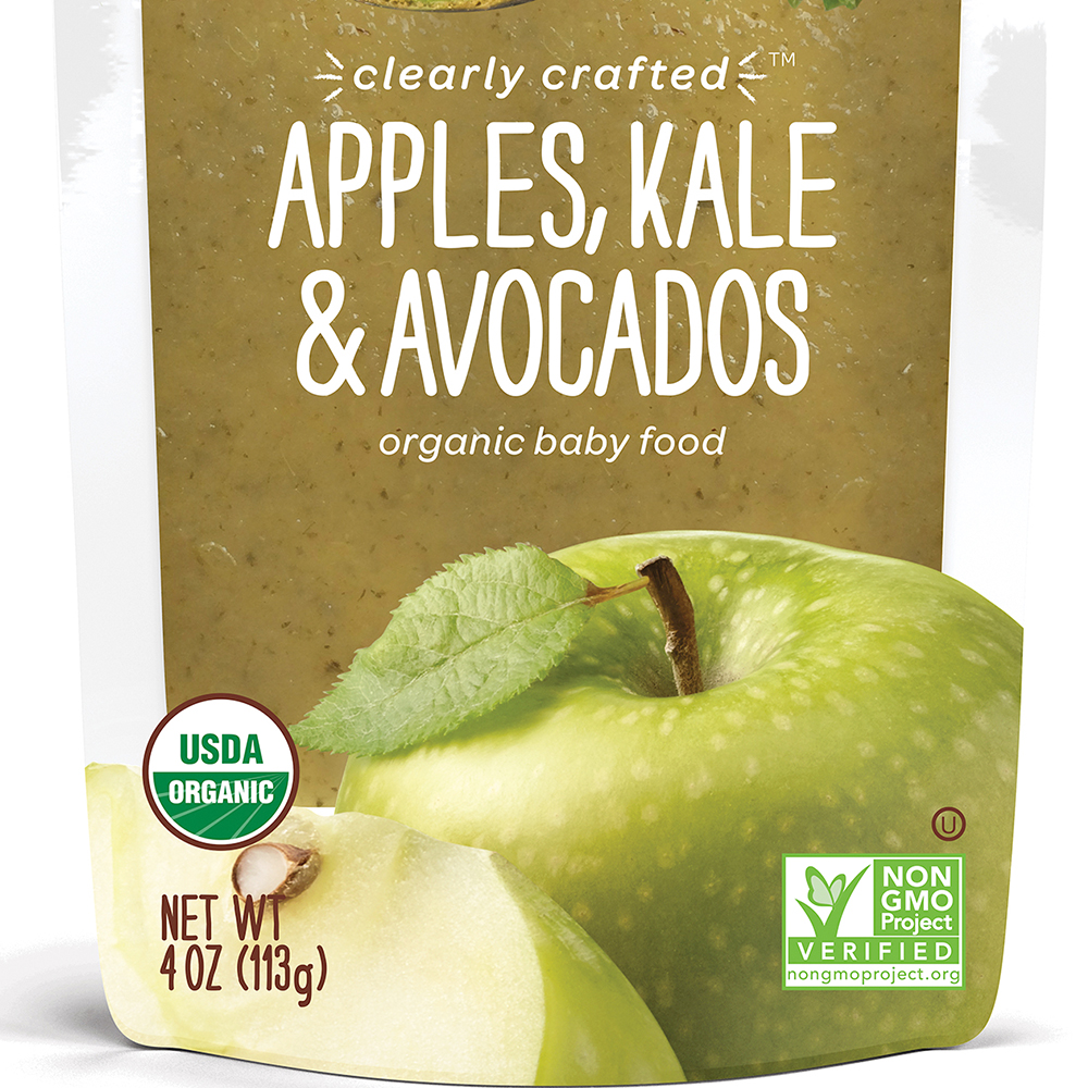美國 HappyBABY 精選系列有機嬰兒食品: 蘋果+羽衣甘藍+牛油果