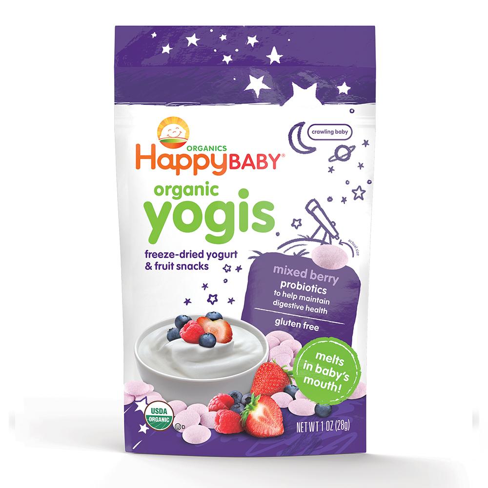 美國 HappyBABY 有機高鈣乳酪粒: 雜莓味