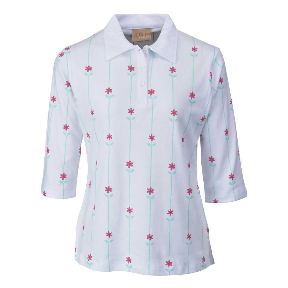 Chissa Sports Ladies Cotton POLO T-shirt CS-417 (White)