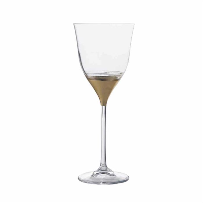 RCR Gold Leaf Stem Glass 26987020006