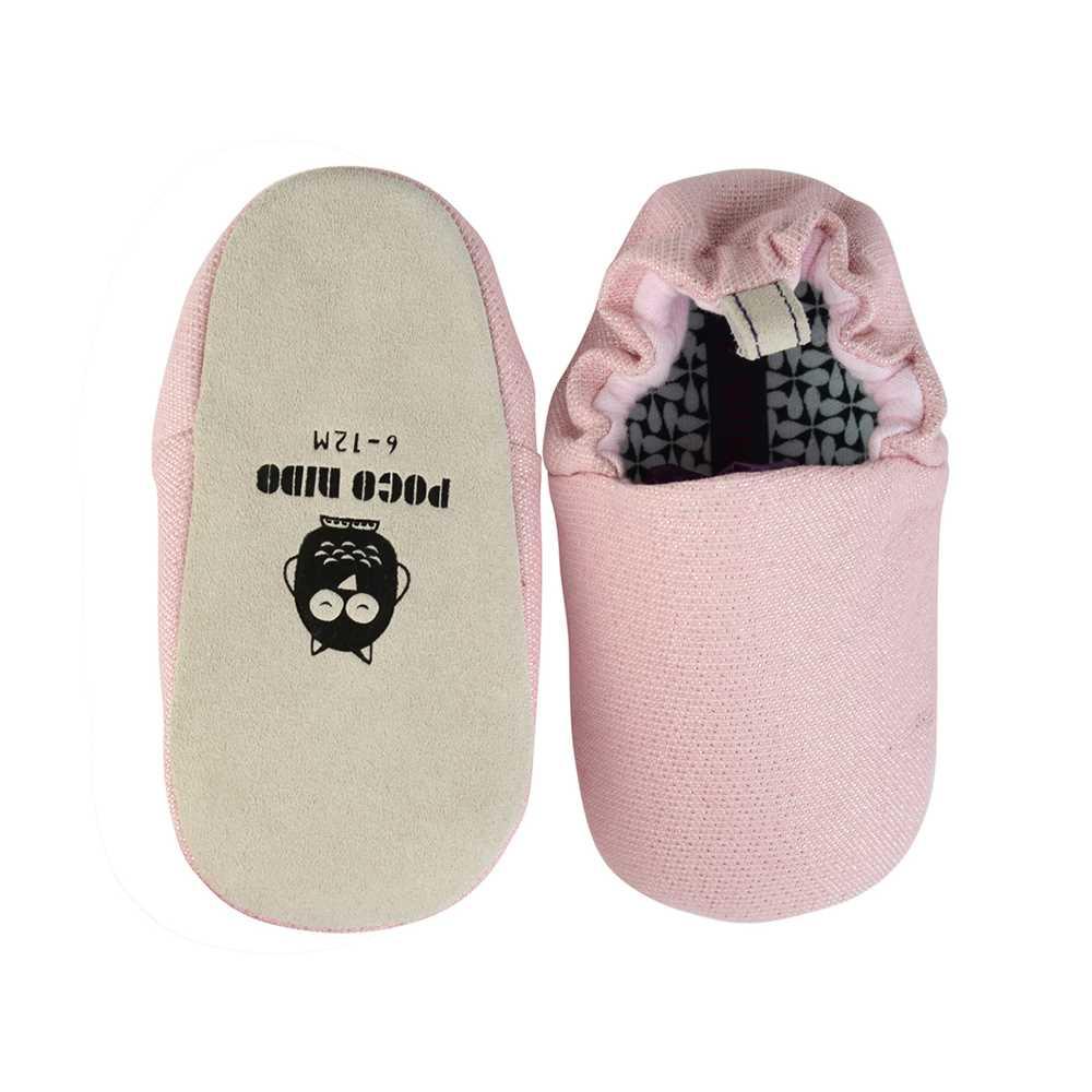 POCO NIDO 婴儿鞋PNMS349(闪粉红色)