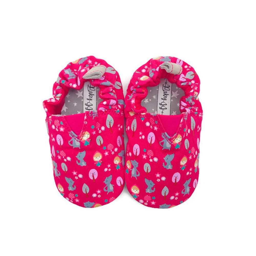 JPLUSJ Pink Little Red Riding Hood Baby Shoes JJ181201P