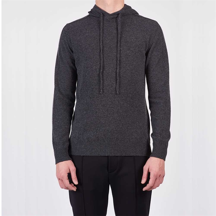 WOOL & CO Wool  Cashmere Mix Pullover WO8082 - Mid Grey
