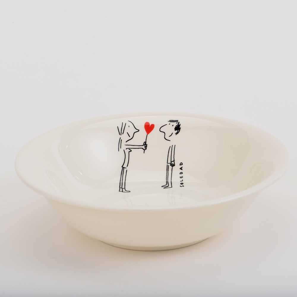 Gien Amoureux series - cereal bowl 16.5cm