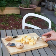 Kikkerland Cheese Board + Mouse Knives