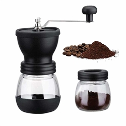 BlueBeach - Portable Manual Coffee Maker with Glass Storage Tank