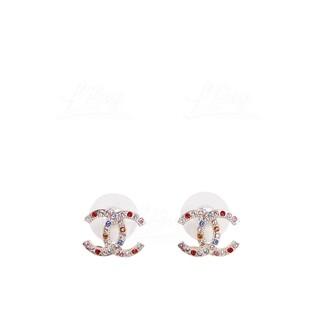 Chanel 小彩鑽耳環