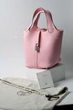 Hermes Picotin Lock 18 Bag 3Q Rose Sakura 手挽袋 櫻花粉 銀扣