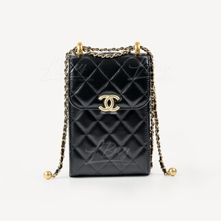 Chanel 新款小金球手機鏈袋