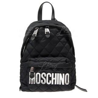 Moschino 銀色logo 黑色 背囊 斜揹袋