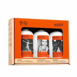 eco.kid small Orange Gift Box (Potion Lotion 225ml +TLC 225ml +BubbleBath 225ml)