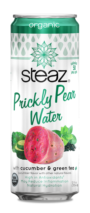 Steaz Organic Prickly Pear Water with Cucumber & Green Tea
