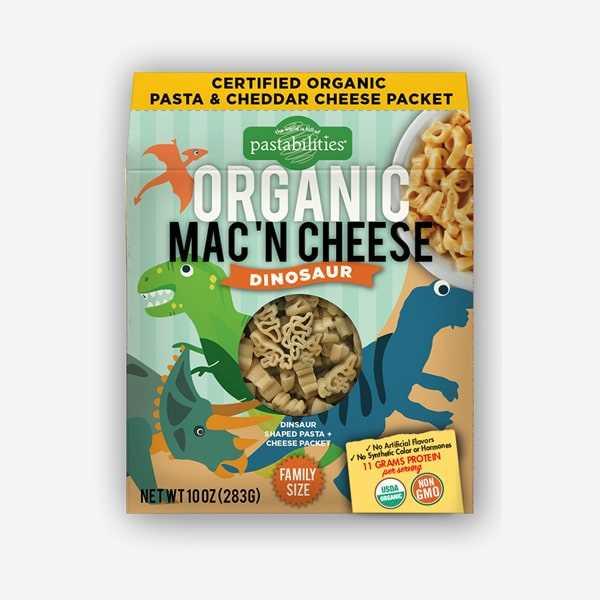 The Pasta Shoppe Organic Mac n Cheese Dinosaur (10oz)
