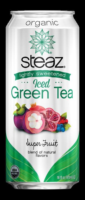Steaz Organic Lighty Sweetened Iced Green Tea (Superfruit)