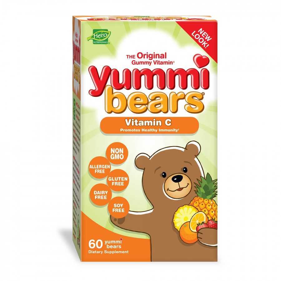 Hero Nutritionals Yummi Bears Vitamin C for Kids