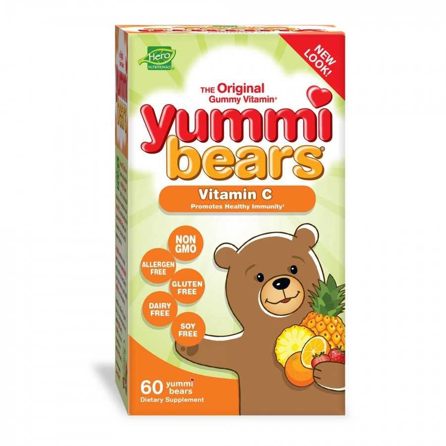 Hero Nutritionals Yummi Bears Vitamin C for Kids