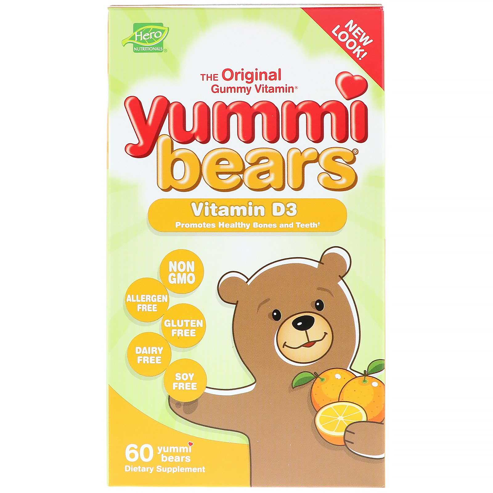 Hero Nutritionals Yummi Bears Vitamin D3