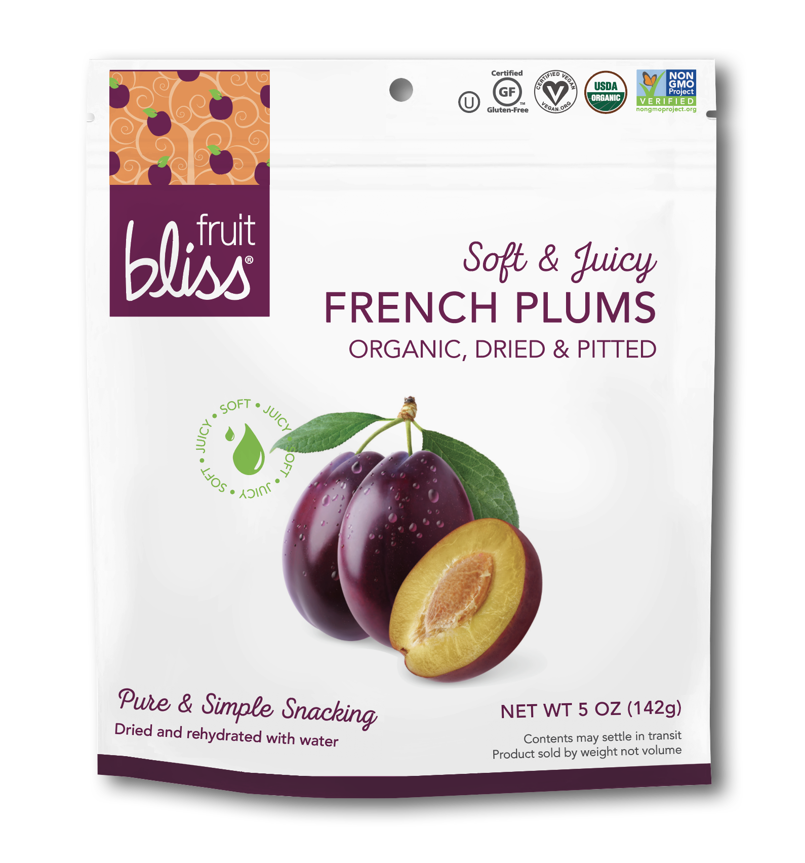 Fruit Bliss Organic French Agen Plums