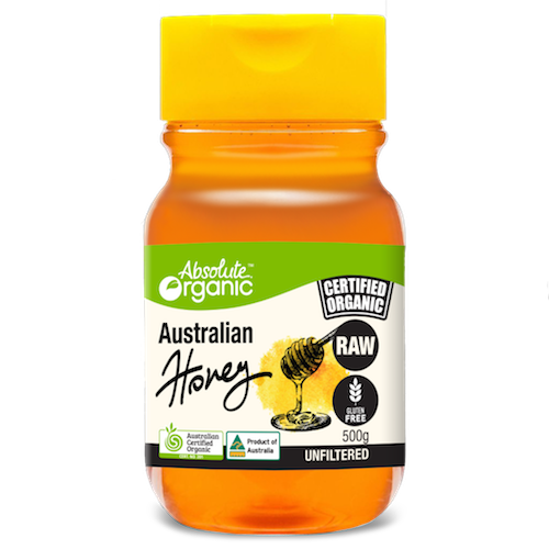 Absolute Organic Honey Raw Aust. Squeeze 500g
