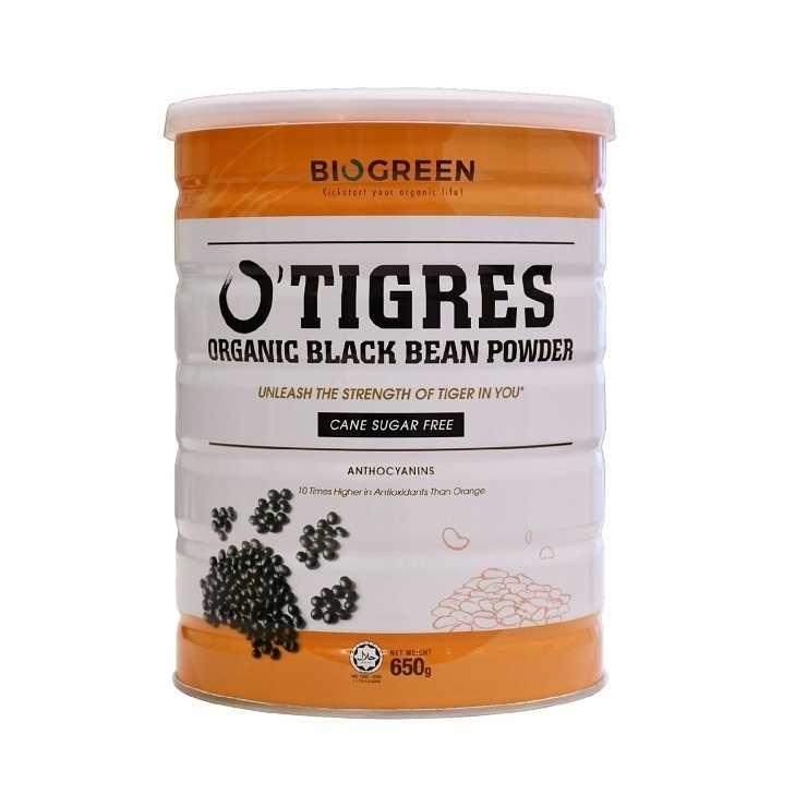 Biogreen O Tigres Organic Black Bean Powder - Cane Sugar Free