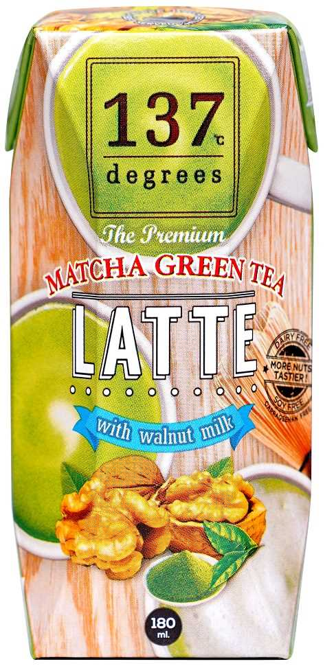 137°c Degrees Walnut Milk Matcha Green Tea 180ml