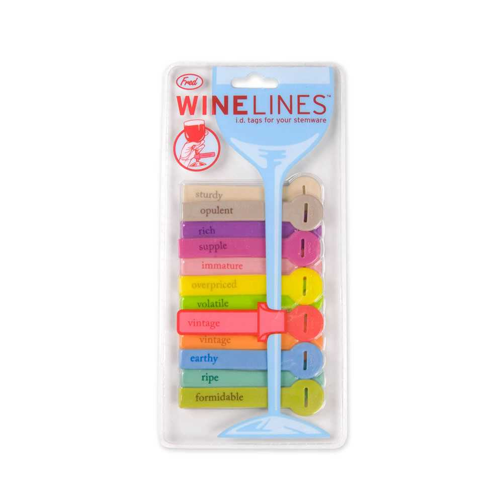 Wine Lines Glass Tags