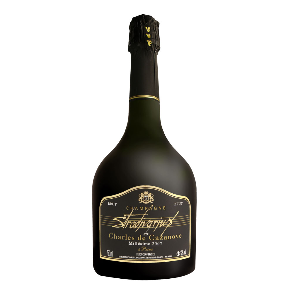Charles de Cazanove Stradivarious Brut 2007 with wooden box (750ml)