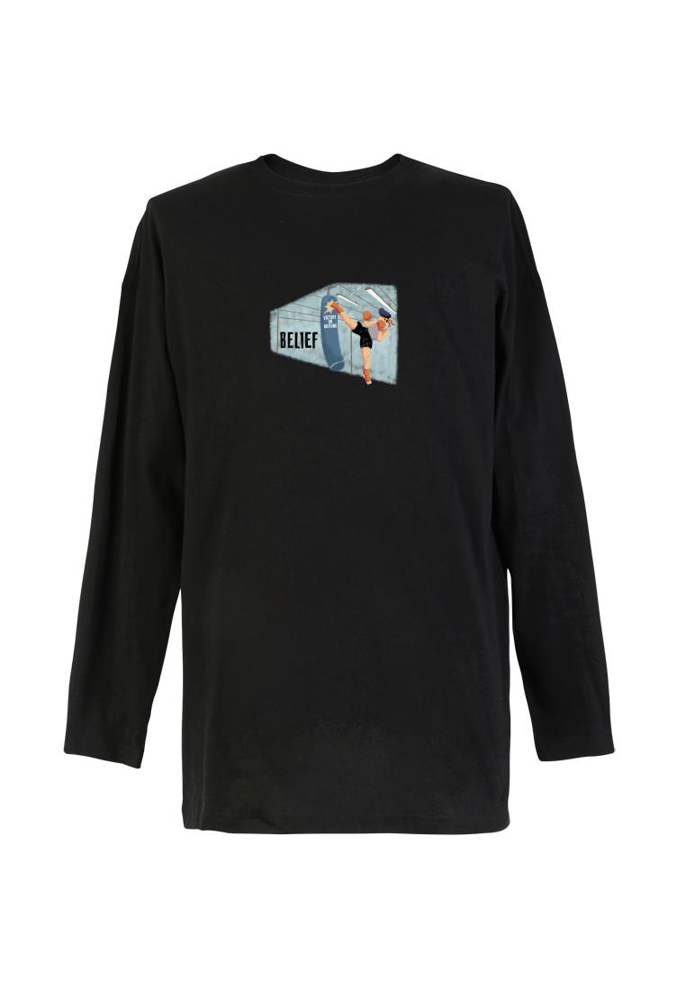 BSX Long Sleeve Regular Fit Printed T- shirt 10408069823